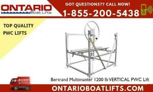 Bertrand Multimaster 1200 lb VERTICAL PWC Lift- Is your Boat in Danger?Do you worry that your boat might not be secured? Ontario Preview