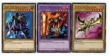 All Rares 1st: Curse of Dragon_Flame Swordman_Gaia the Fierce Knight mili yugioh