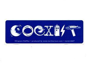 Ms243 Sci Fi Coexist Mini Bumper Sticker Star Wars Dr