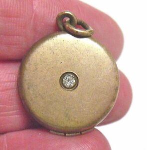 VICTORIAN-GOLD-FILLED-LOCKET-PASTE-RHINESTONE-ROUND-20-MM-5-2-GRAMS