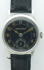 JAEGER LE COULTRE MILITARY OFFIZIERSUHR EDELSTAHL HERRENUHR  1940er JAHRE 2nd WW