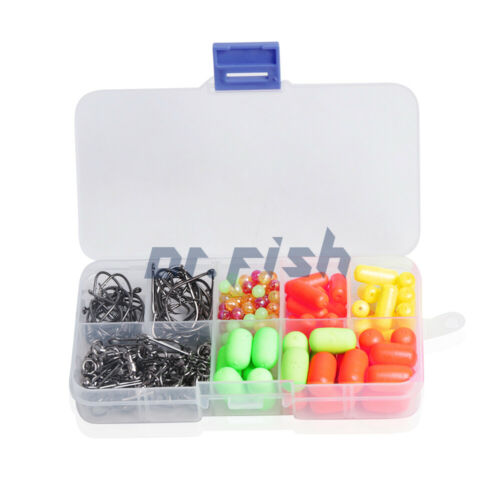 Lot 200 Pompano Rig Making Kit With Swivels Circle Hooks Duo Lock Snaps Beads