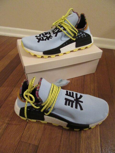 meet 71b32 01eba adidas PW HU NMD Size 11.5 Clear Sky Inspiration Pharrell Williams Human  Ee7581
