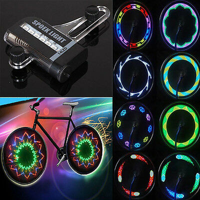 14 LED Cycling Bicycle Bike Wheel Signal Spoke Light Lamp 32 Changes Bright NEW