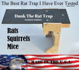 Original-Dunk-The-Rat-Trap-Rat-amp-Squirrel-Barn-Trap-Auto-Reset-USA-MADE