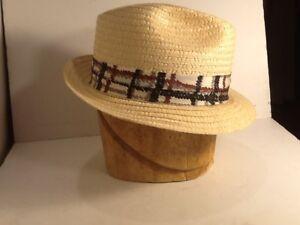 Vintage men s straw Hat Fedora size 7-1 4 Stetson Great Vintage  a58a4053f25