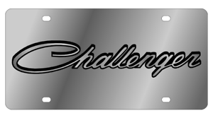 Dodge-Challenger-Script-Mirror-Polish-3D-Finish-Stainless-Steel-License-Plate