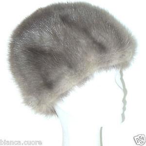Caricamento dell immagine in corso Cappello-pelliccia-VISONE-ARGENTATO- pelliccia-grigio-donna-colbacco- 5a08c1601108