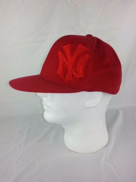 4632db215a8 New York Yankees MLB Red Cooperstown Collection Hat Cap 7 1 2 American  Needle