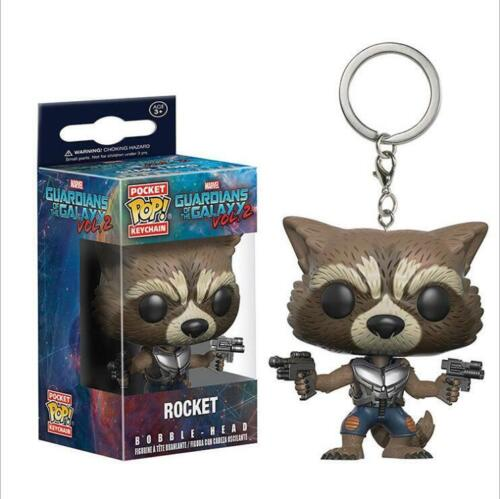 Giant Keychain Funko Pocket Pop Dead Pool Vinyl Spider Iron Man #1 Baby Groot