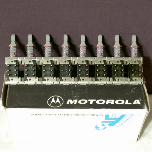 Vintage Motorola Electronic 8 Gang Switch Radio Telecom Panel Button 40-84324C14