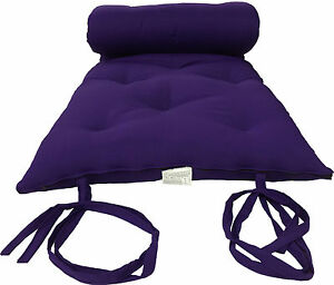 PURPLE FULL SIZE JAPANESE FLOOR ROLLING FUTON MATTRESS, THAI MATS 3 x 54 x 80