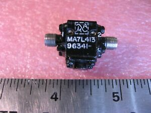 MA-Com-MA7L413-Coaxial-Isolator-7-9-8-4-GHz-Microwave-SMA-Female-Used-Qty-1