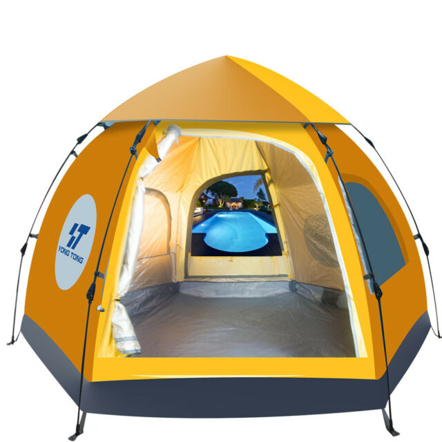 5~6 People Waterproof Automatic Outdoor Instant Popup Tent Camping Hiking Canopy