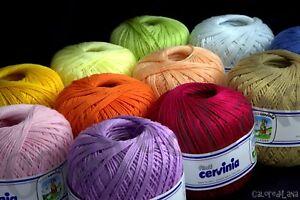 Cotone Per Uncinetto Cervinia Sicilia 50 Gr 125 Metri