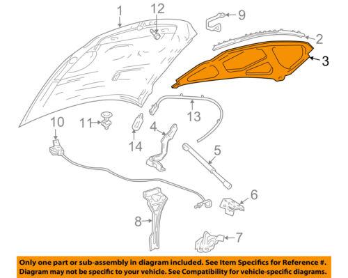 Lincoln FORD OEM Navigator Hood-Insulation Pad Liner Heat Shield 3L7Z16738AA