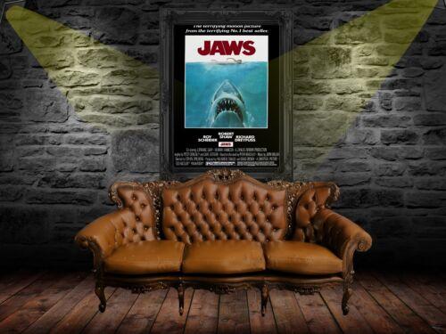 Retro Movie Poster A0-A1-A2-A3-A4-A5-A6-MAXI 503 Jaws 1975 Vintage