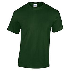 3c938f7c9821de Forest Green LOW PRICE Blank Men's T Shirt Plain Work Mens Gildan ...
