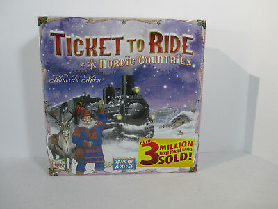 Ticket to Ride Board Game Nordic Countries Family Friendly New Days of Wonder