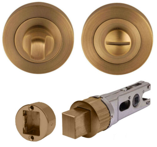 FLEX Antique Brass Lever on Rose Door Handles Accessories//Latches//Hinges Privacy