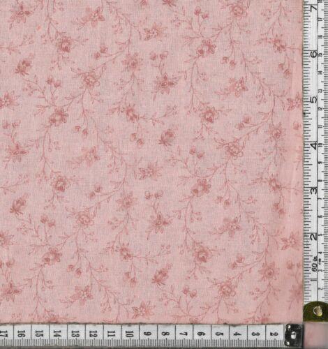 TEJIDO ARTESANAL acolchar//100/% Algodón Moda Lario Rosa Oscuro//Durazno Flor Rosa//Peac