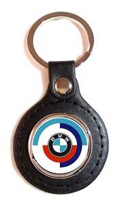 Porte-cles-Simili-Cuir-Sport-logo-BMW-VINTAGE-70-039-s-amp-80-039-s