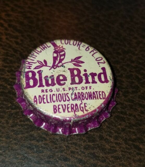 Blue Bird Grape Soda Cork Lined Bottle Cap