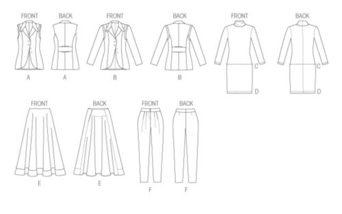 OOP VOGUE WARDROBE WAISTCOAT DRESS JACKET TOP SKIRT PANTS PATTERN V8939 SZ 4-12
