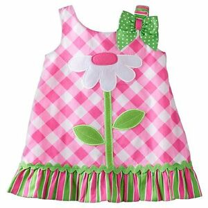 Youngland Gingham Flower Dress - Free Shipping - Baby Girl