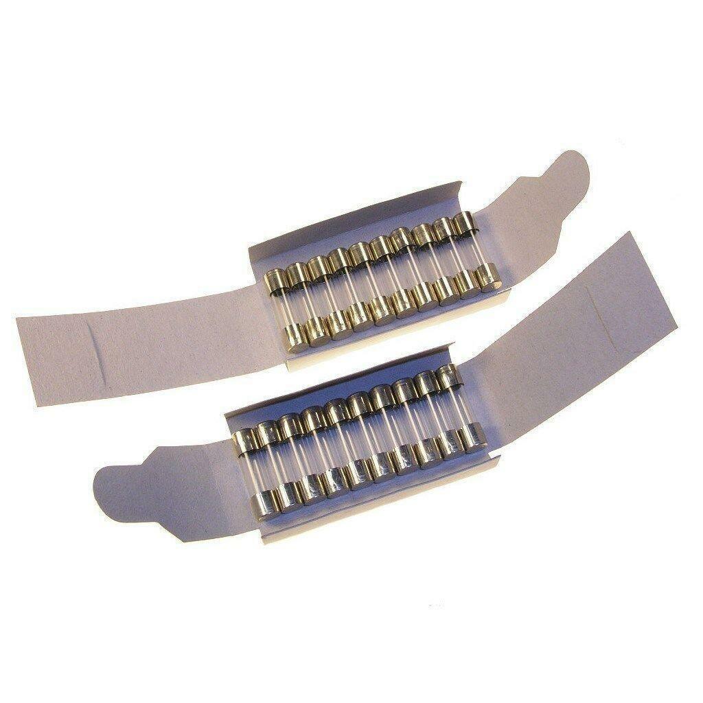 10x Sicherungen Wickmann  500 mA  250V F flink H 5x20mm 19194 Feinsicherung