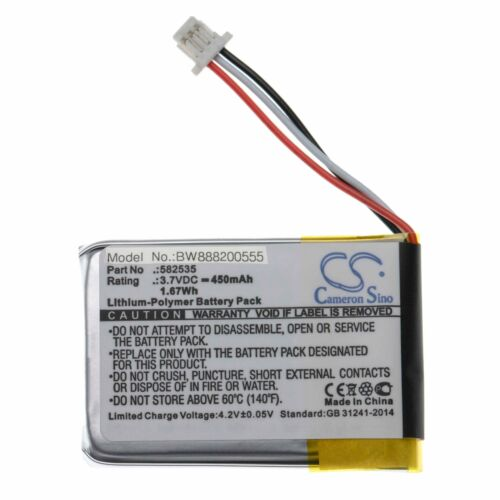 582535 1ICP6//26//36 450mAh Batería Li-po Para Mio