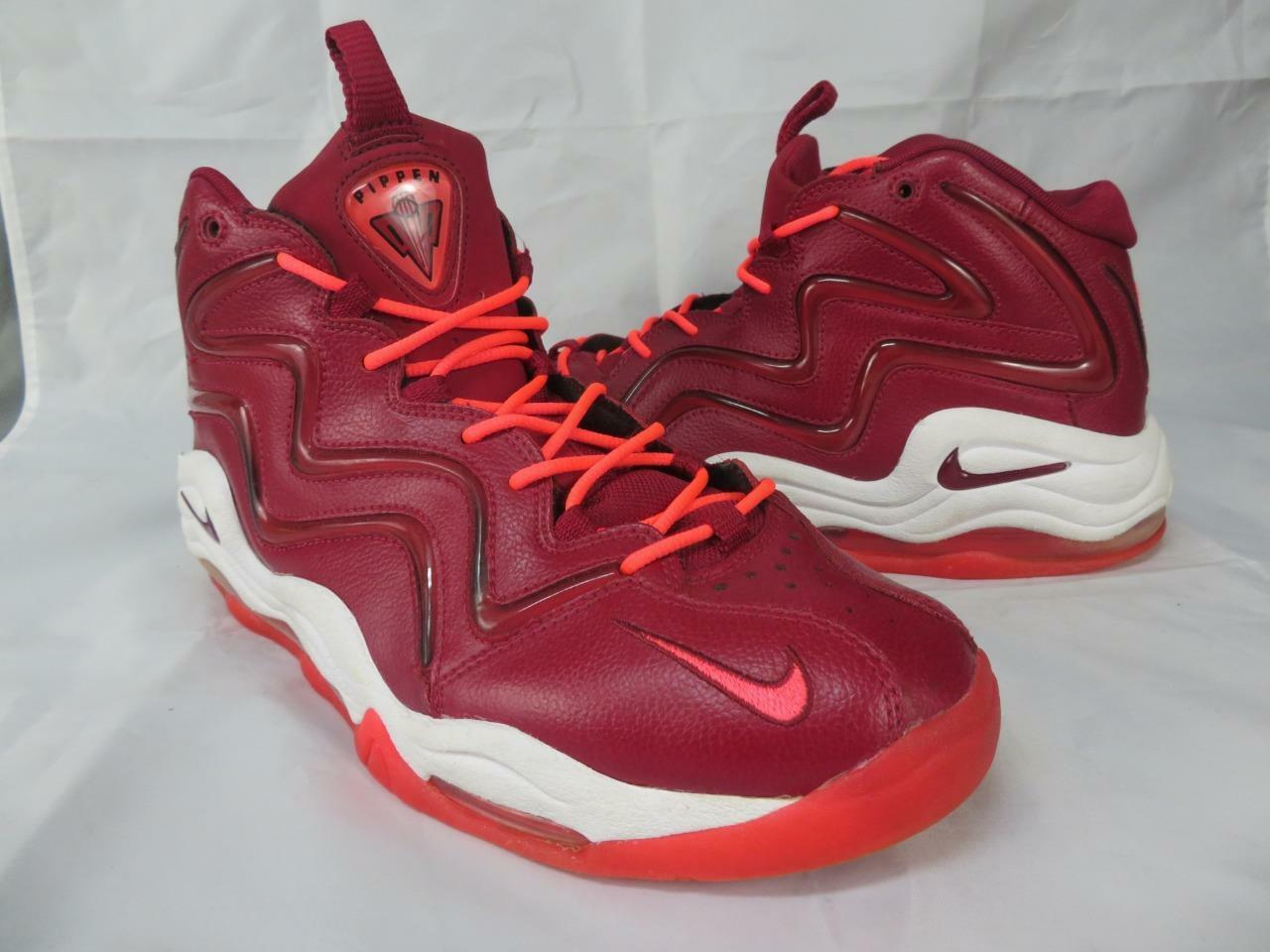 Nike Air Pippen 1 Size 11 Red Sneaker Shoes No Insoles