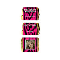 30 Graduation Party Favors Class Of Pink Zebra Nugget Labels