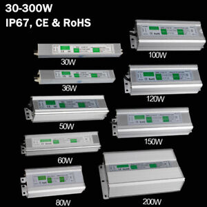 Netzteil Trafo DC12V LED Transformator Wasserdicht IP67 für LED Strip 30W-200W