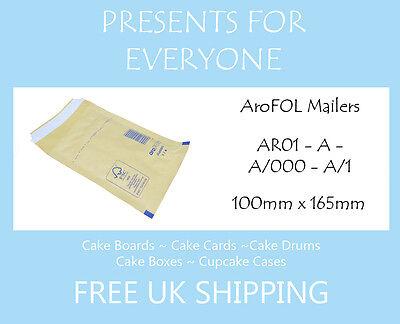 25 x taille c ar03 rembourré Enveloppes kraft blanc-gratuit 1ère classe royaume-uni livraison
