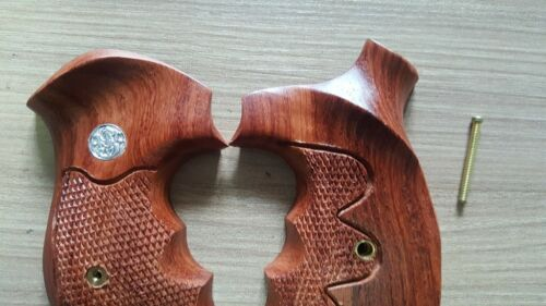 New Hard wood Grips for S/&W K//L Frame Round Butt Over Size  Grip