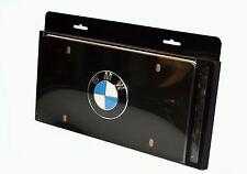 Genuine BMW Black Roundel License Plate BLACK 82121470313, 82 12 1 470 313