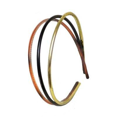 alicebands pack of 3 black narrow plastic new