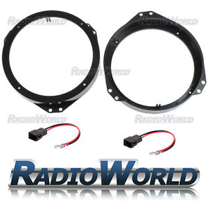 Vauxhall-Astra-F-G-Zafira-Omega-Vectra-B-Speaker-Adaptors-Rings-165mm-6-5-034
