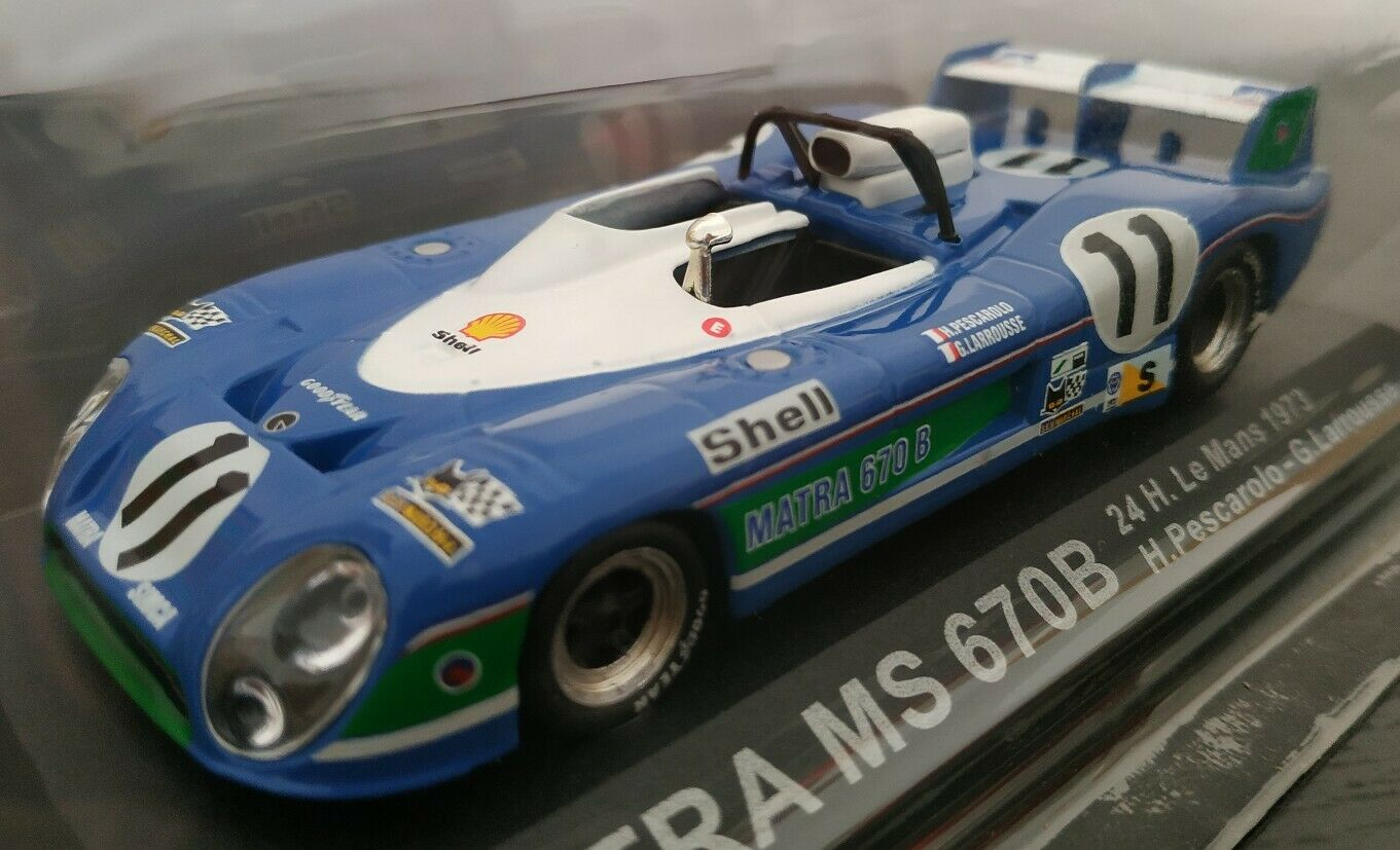 1     43 Matra Ms 670b 24 horas Le Mans 1973 H. Pescharolo G. Larousse coche Metal esCochea d1f