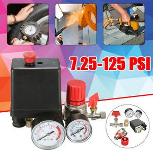 7-25-125PSI-Pressostato-Manometri-Interruttore-Aria-Valvola-Compressore-Regolato