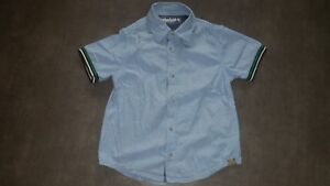 Belle-chemise-manches-courtes-chemisette-bleu-clair-TIMBERLAND-3-ans-TBE