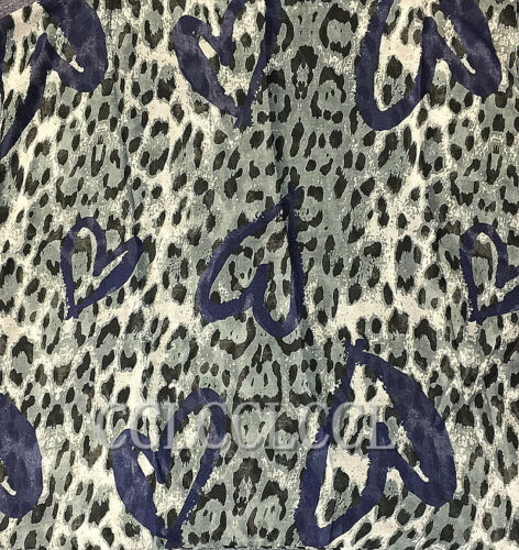 Leopard Print Scarf with Love Heart Partten Sarong Women Wrap Gift UK