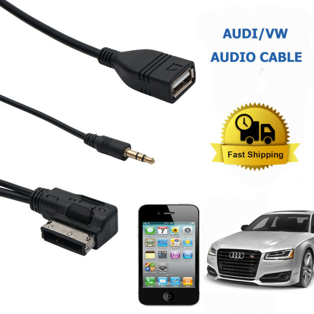 MUSIC MP3 AMI MDI MMI INTERFACE USB CHARGER 3.5MM AUX CABLE FOR VW/AUDI A3 Q7 S5