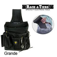 Rack-A-Tiers Butt Pouch Grande Tool Belt Holder Back Pocket Black Nylon 43095