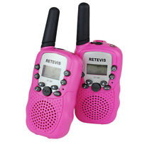 Retevis Rt388 Walkie Talkie Pink Kids Gift Uhf Us Frequency 22ch 2-way Radio Us