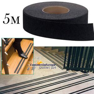 NASTRO-ADESIVO-ANTISCIVOLO-ANTI-SCIVOLO-NERO-5m-25mm-50mm-IMPERMEABILE-NO-SLIP