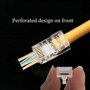 Brilliant 20Pcs Ez Rj45 Connector Cat6 Rj45 Ethernet Cable Plug 8P8C Cat6 Wiring Digital Resources Hutpapmognl