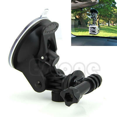 """Car Camera Suction Cup +1/4"""" Tripod Mount Adapter+Screw For GoPro HD Hero 2 3 3+"""