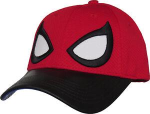 Image is loading Marvel-Comics-Spiderman-Eyes-Adjustable-Cap e8cf826aaa68